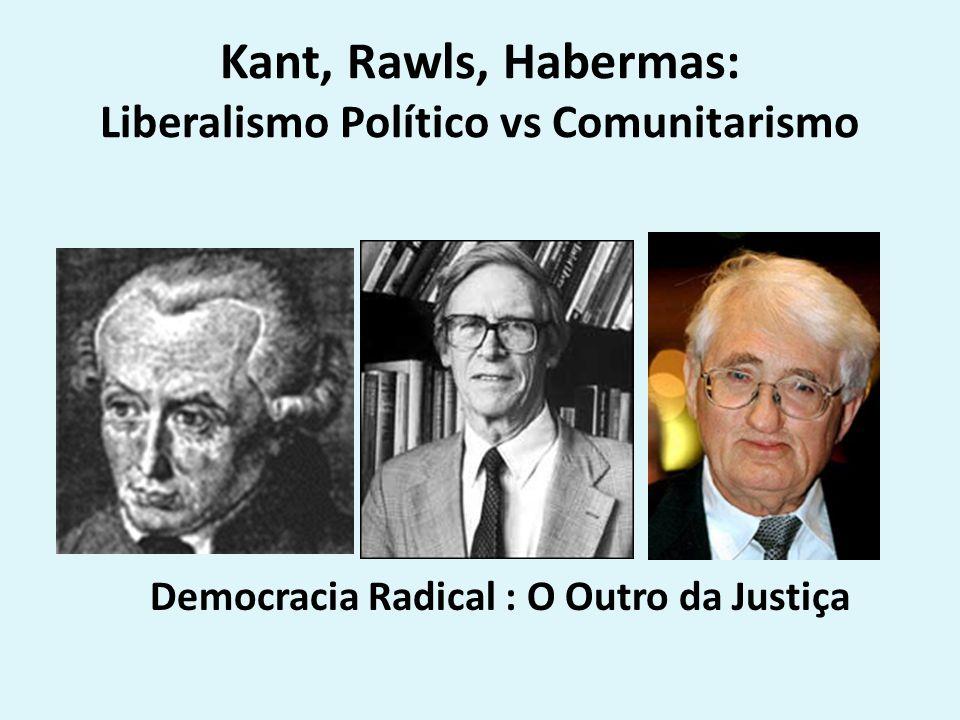 Kant, Rawls, Habermas: Liberalismo Político vs Comunitarismo