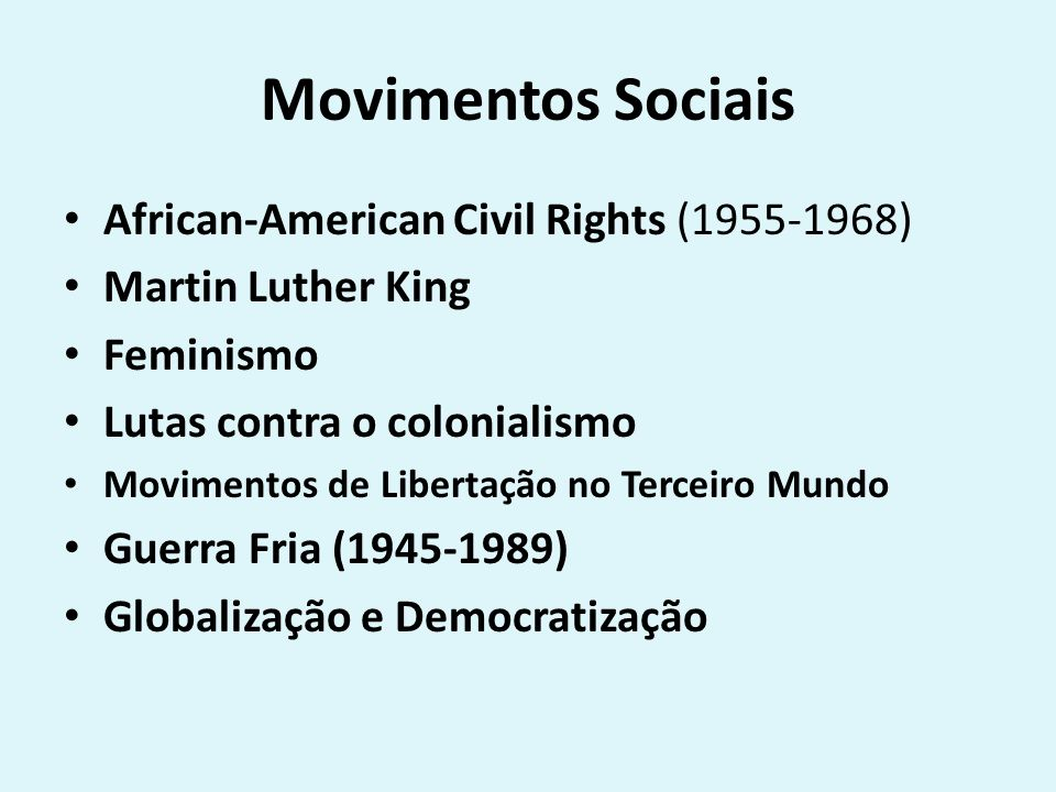 Movimentos Sociais African-American Civil Rights (1955-1968)