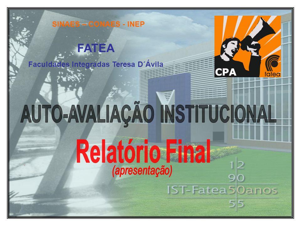 Faculdades Integradas Teresa D´Ávila AUTO-AVALIAÇÃO INSTITUCIONAL
