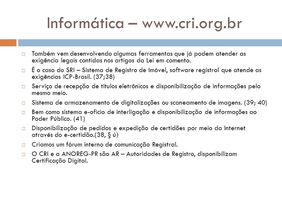 Informática – www.cri.org.br