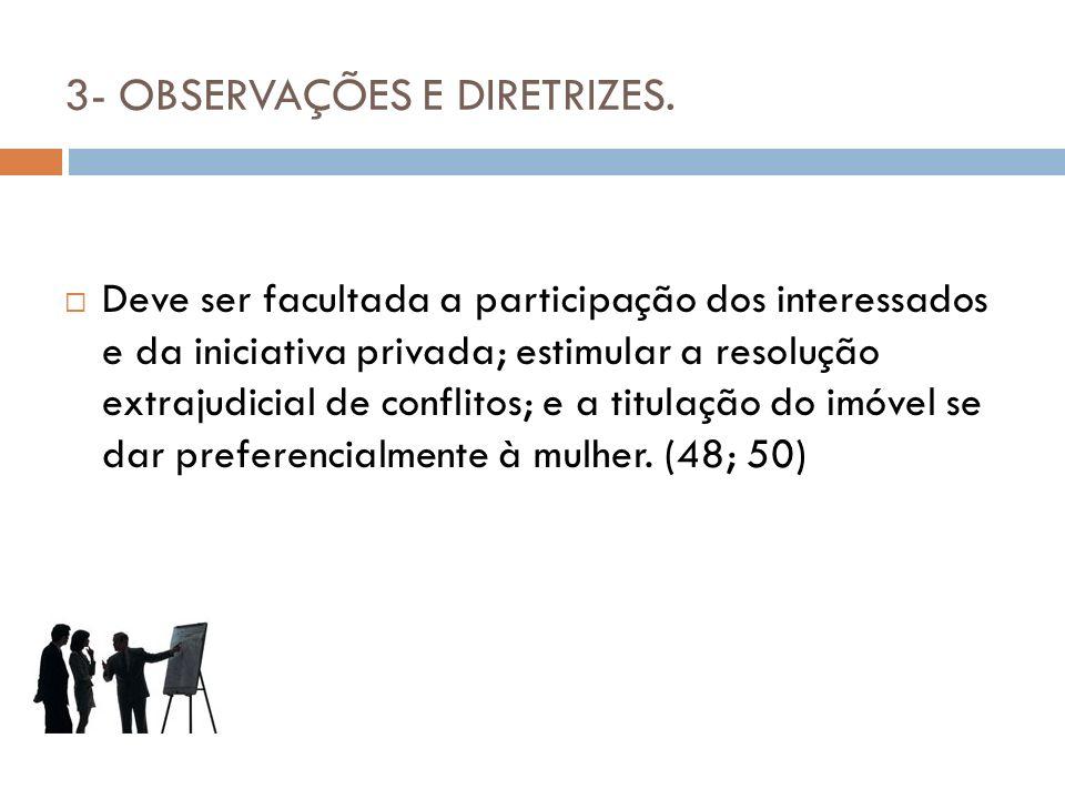 3- OBSERVAÇÕES E DIRETRIZES.