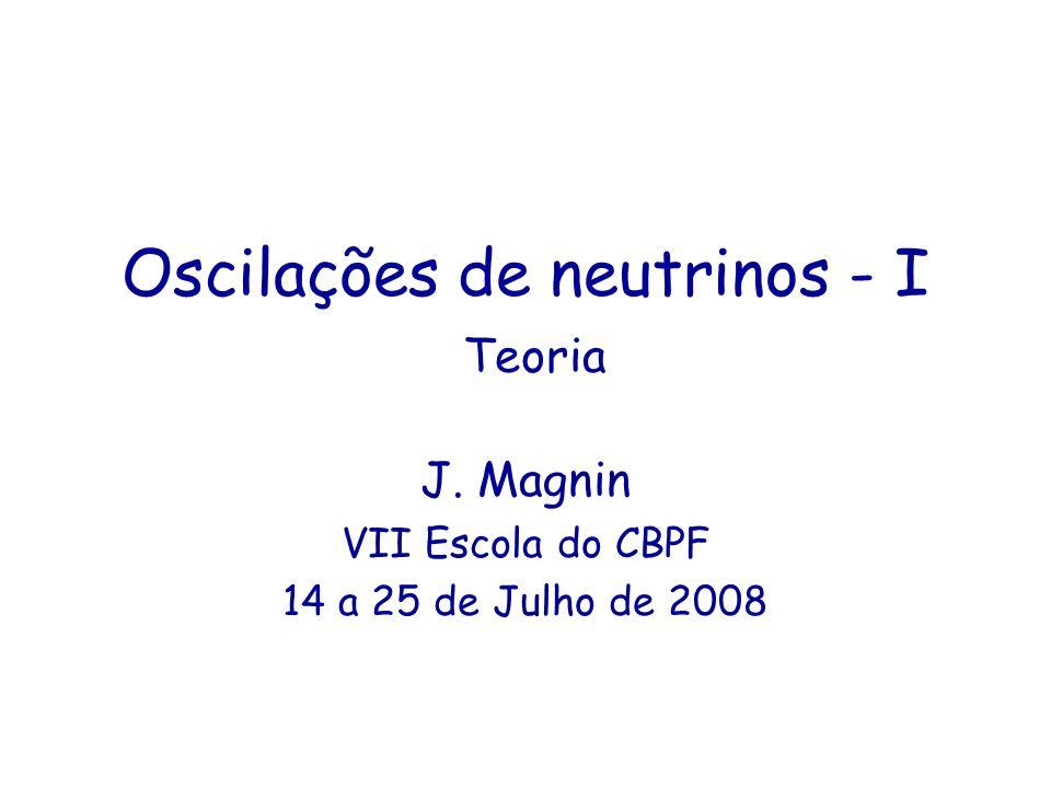 Oscilações de neutrinos - I Teoria