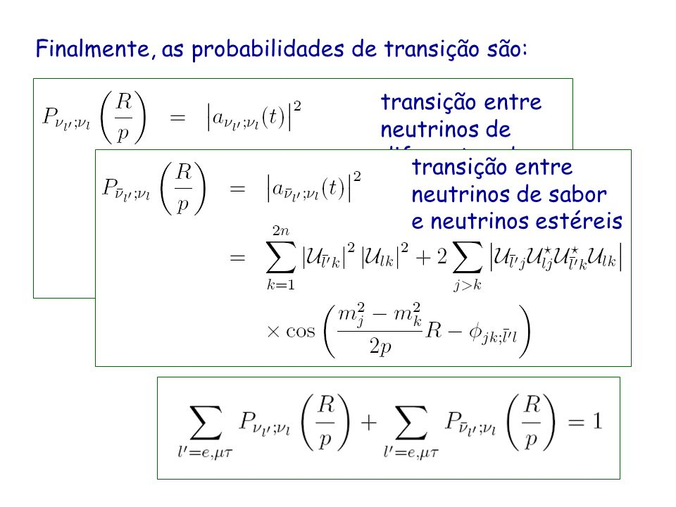 Finalmente, as probabilidades de transição são: