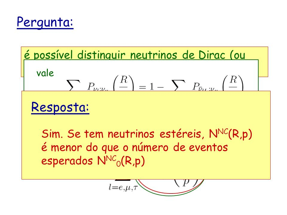 Pergunta: é possível distinguir neutrinos de Dirac (ou Majorana) de neutrinos de Dirac-Majorana vale.