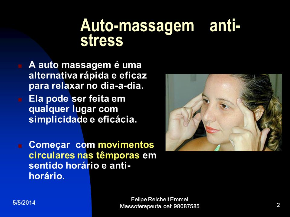 Auto-massagem anti-stress