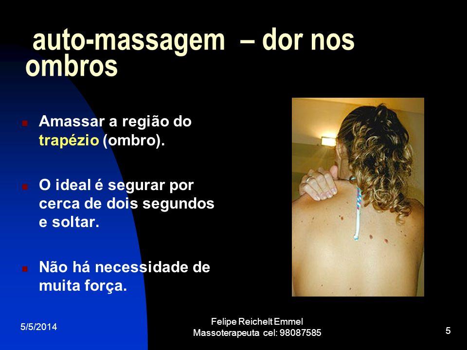 auto-massagem – dor nos ombros