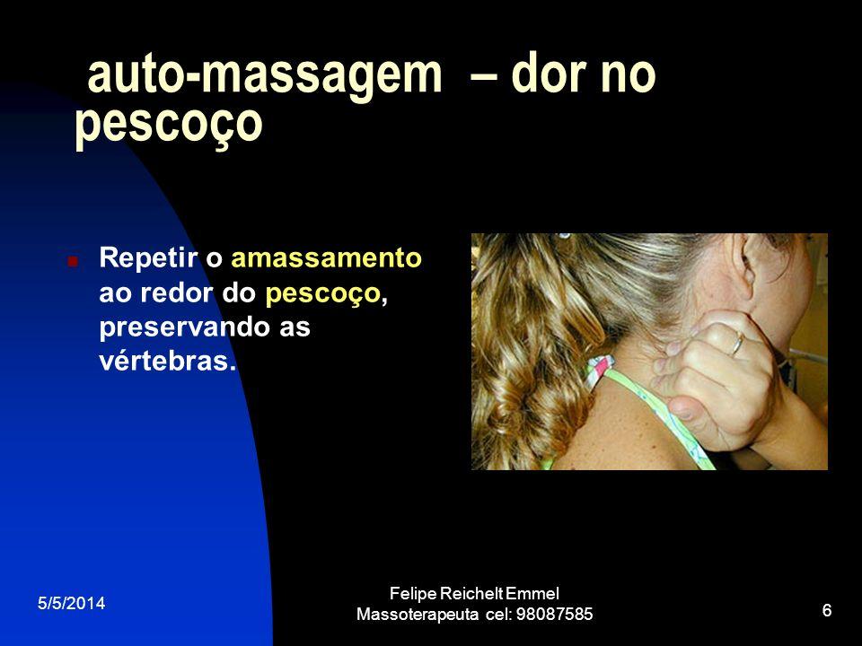 auto-massagem – dor no pescoço