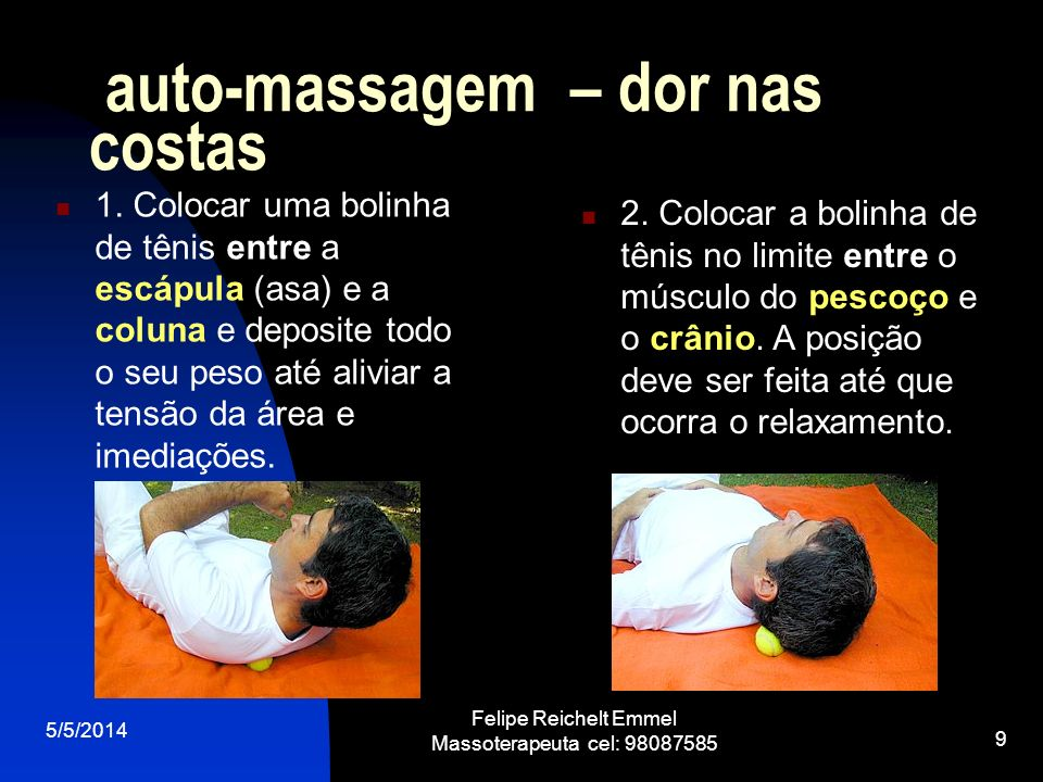 auto-massagem – dor nas costas