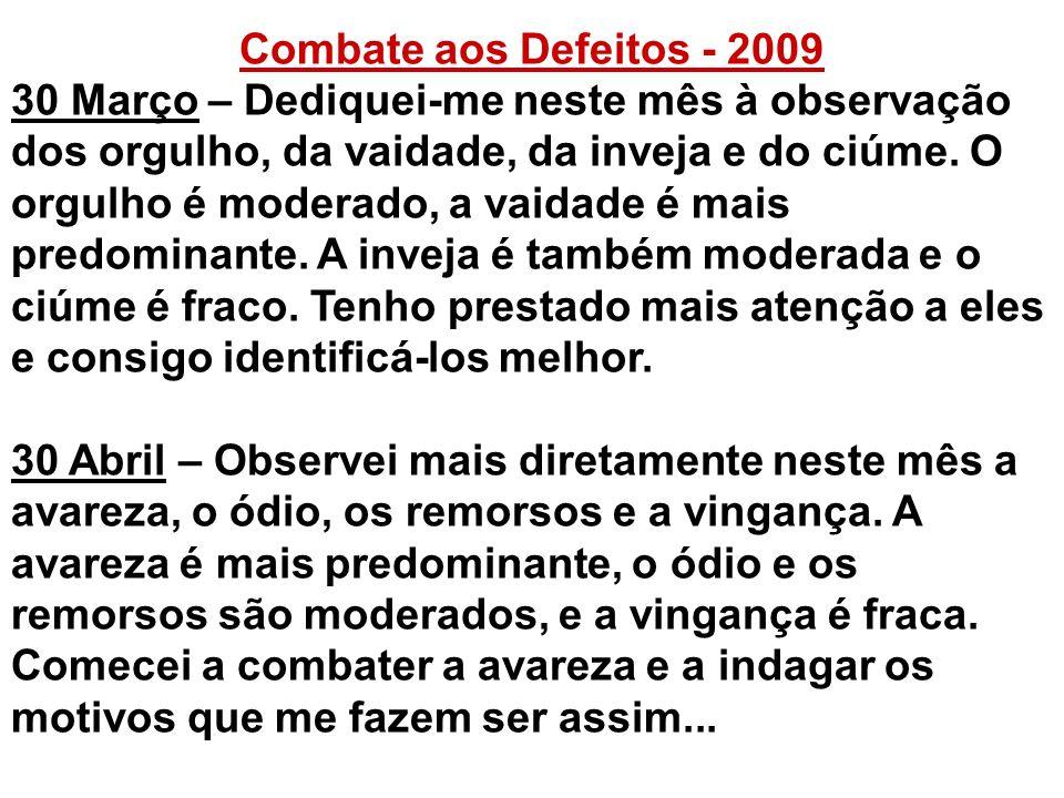 Combate aos Defeitos - 2009