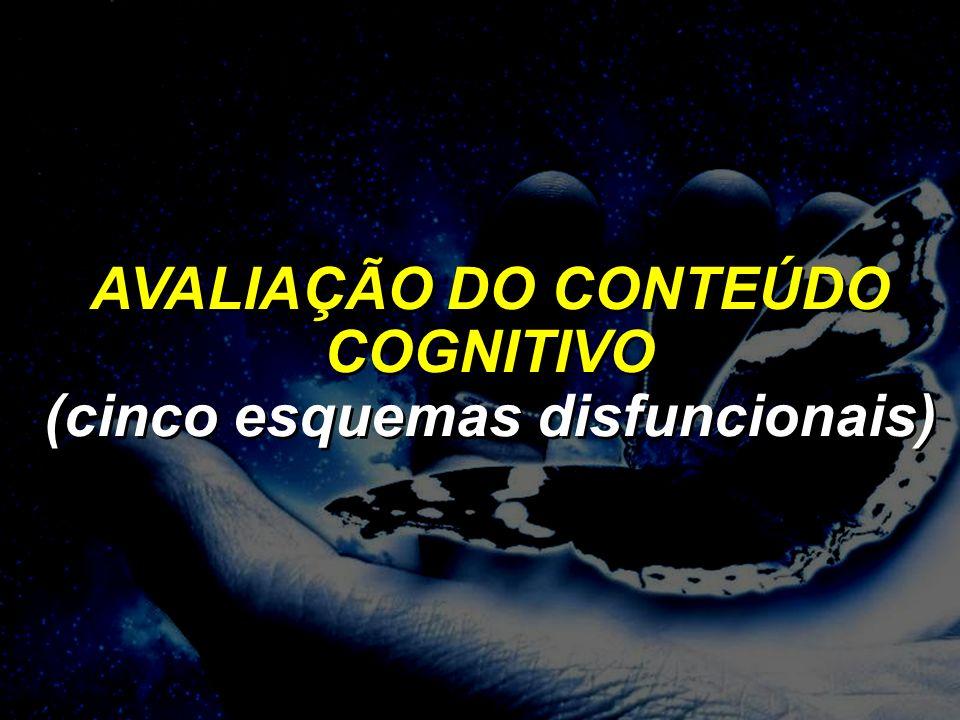 AVALIAÇÃO DO CONTEÚDO COGNITIVO (cinco esquemas disfuncionais)