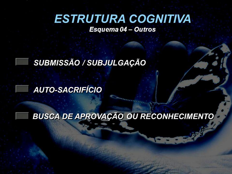 ESTRUTURA COGNITIVA SUBMISSÃO / SUBJULGAÇÃO AUTO-SACRIFÍCIO