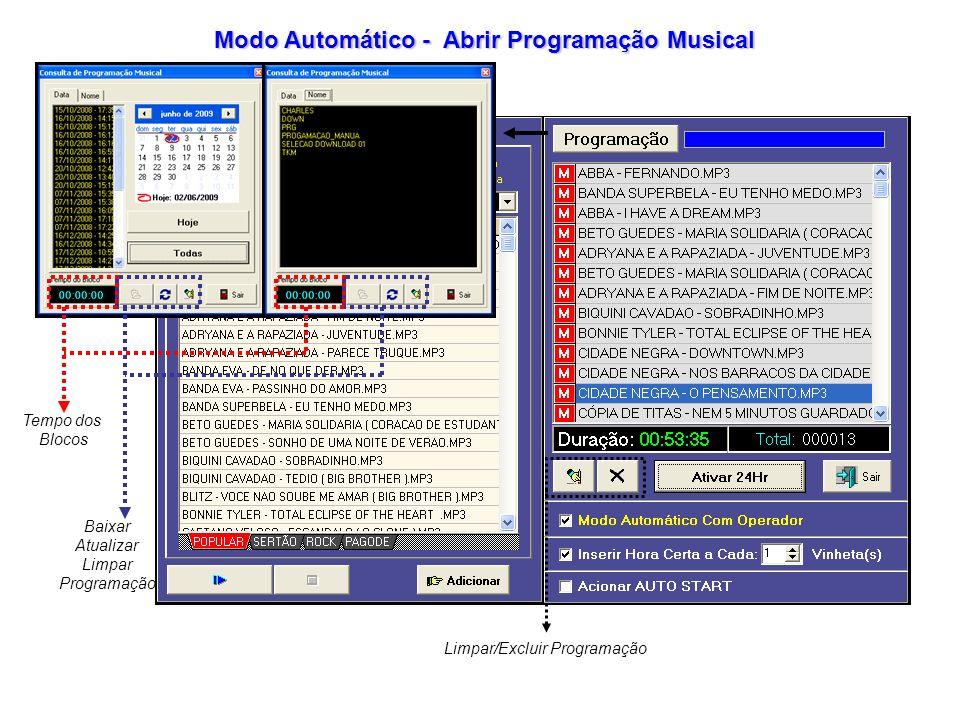 Modo Automático - Abrir Programação Musical