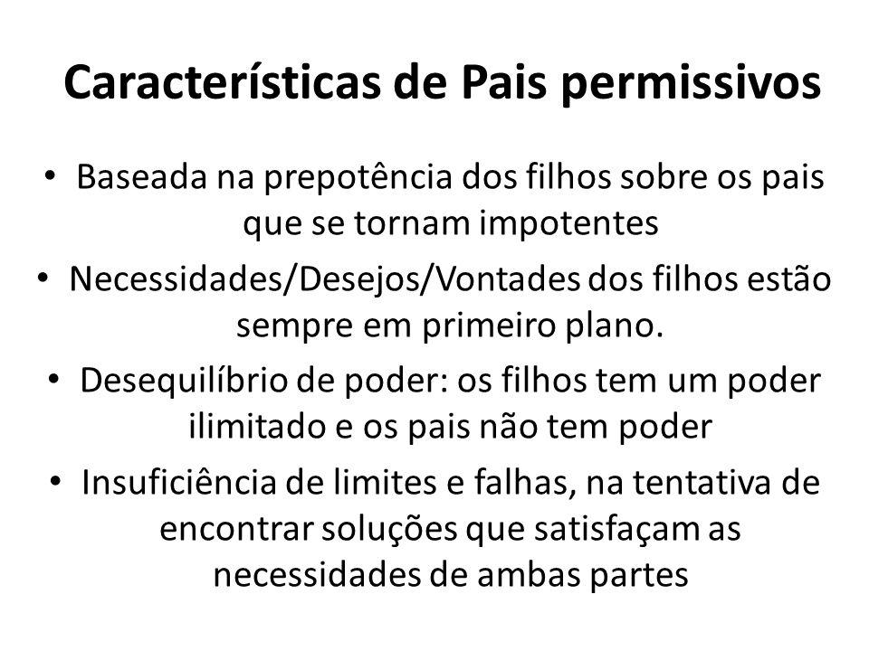Características de Pais permissivos