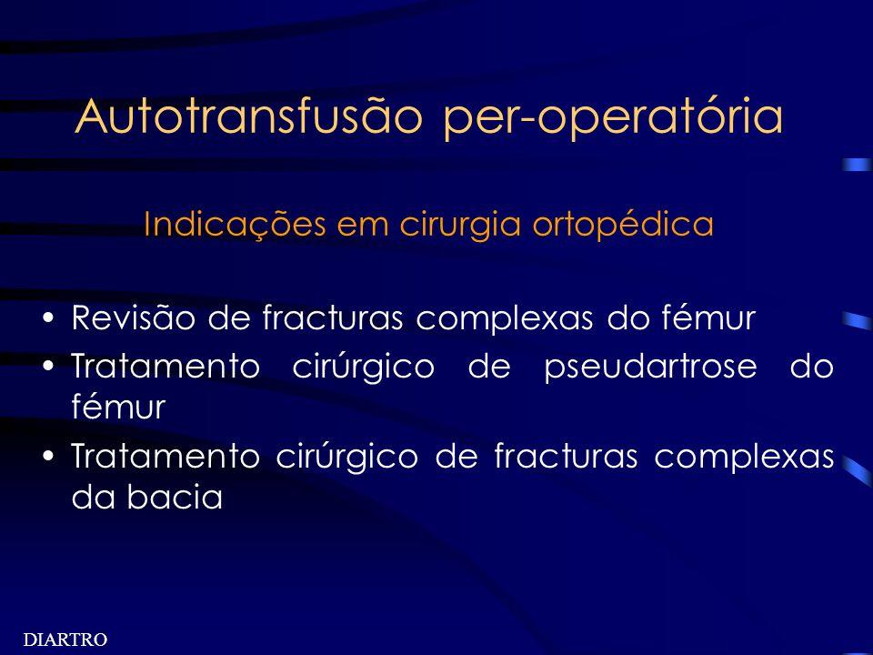 Autotransfusão per-operatória Indicações em cirurgia ortopédica