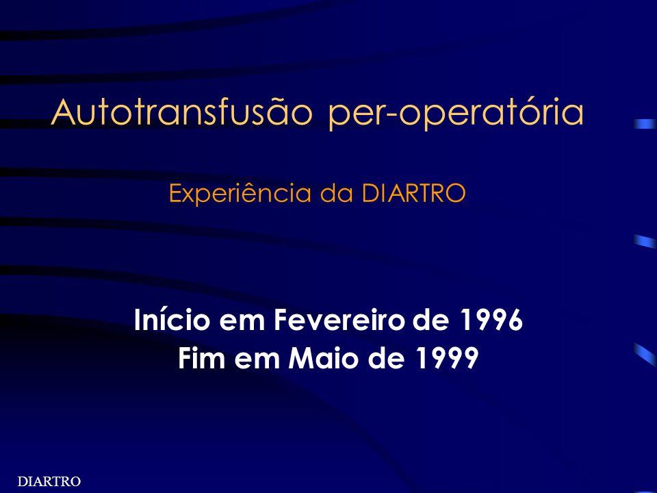 Autotransfusão per-operatória Experiência da DIARTRO