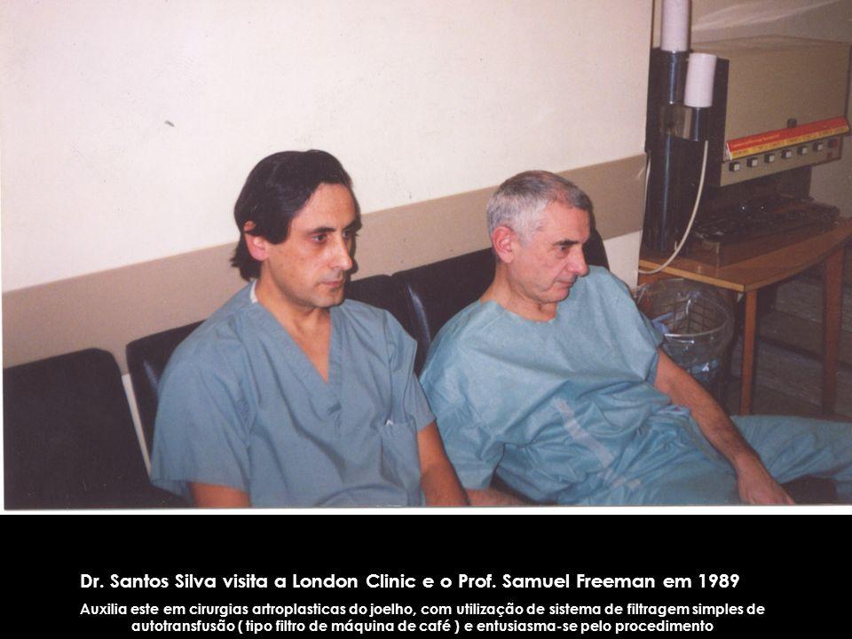 Dr. Santos Silva visita a London Clinic e o Prof