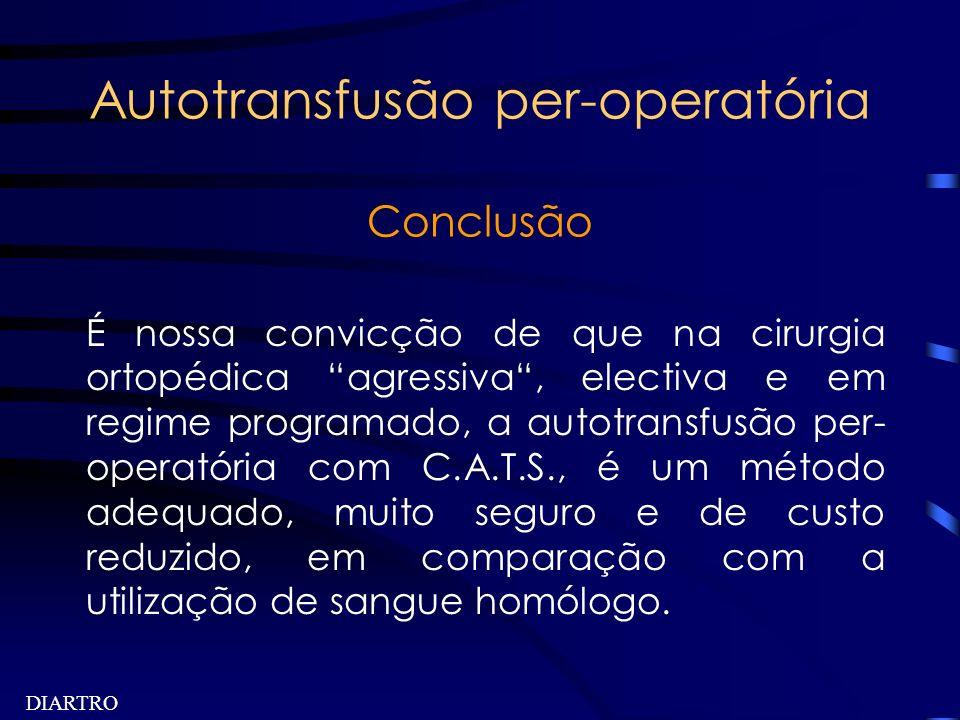 Autotransfusão per-operatória Conclusão