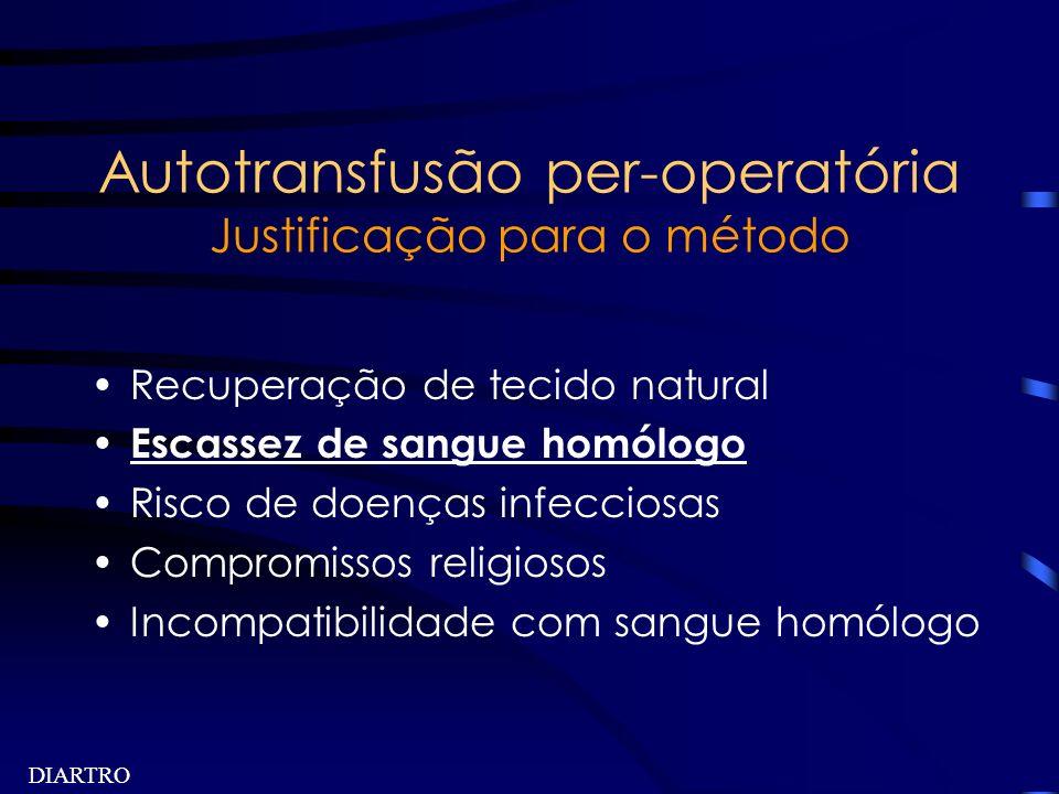 Autotransfusão per-operatória Justificação para o método