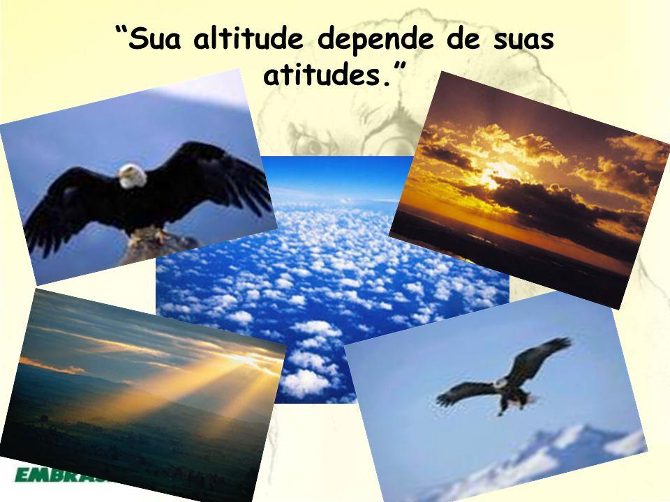 Sua altitude depende de suas atitudes.