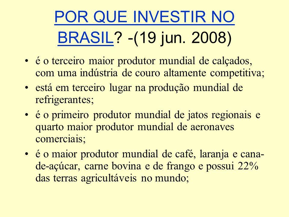 POR QUE INVESTIR NO BRASIL -(19 jun. 2008)