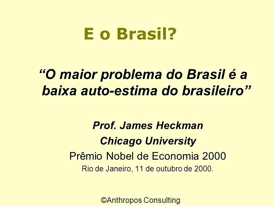 O maior problema do Brasil é a baixa auto-estima do brasileiro