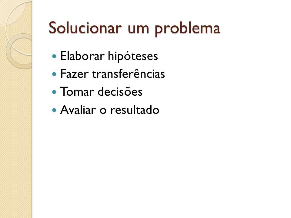 Solucionar um problema