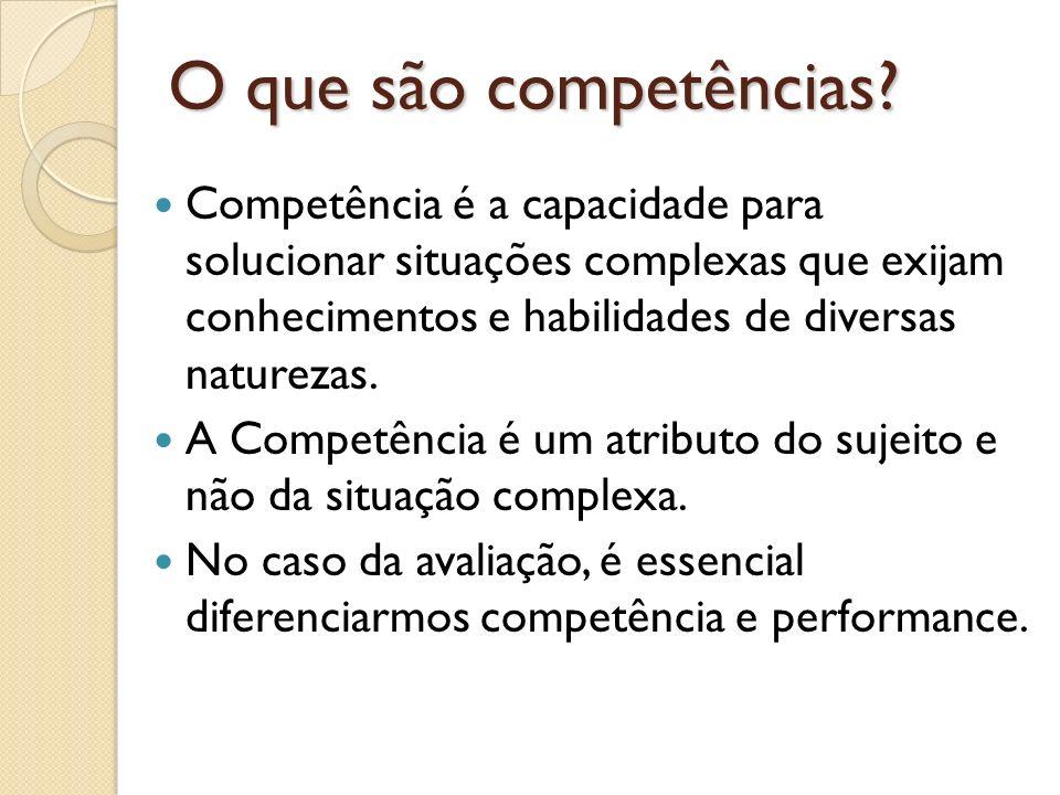 O que são competências