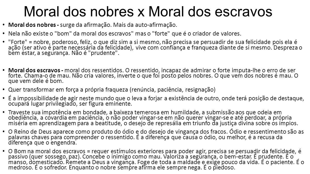 Moral dos nobres x Moral dos escravos