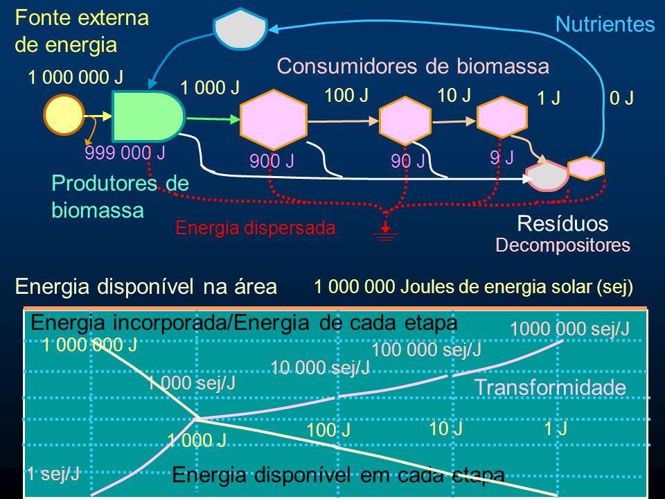 Fonte externa de energia Nutrientes