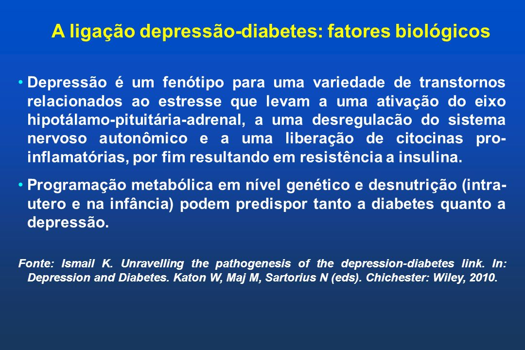 A ligação depressão-diabetes: fatores biológicos