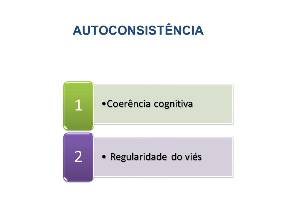 AUTOCONSISTÊNCIA Coerência cognitiva 1 Regularidade do viés 2