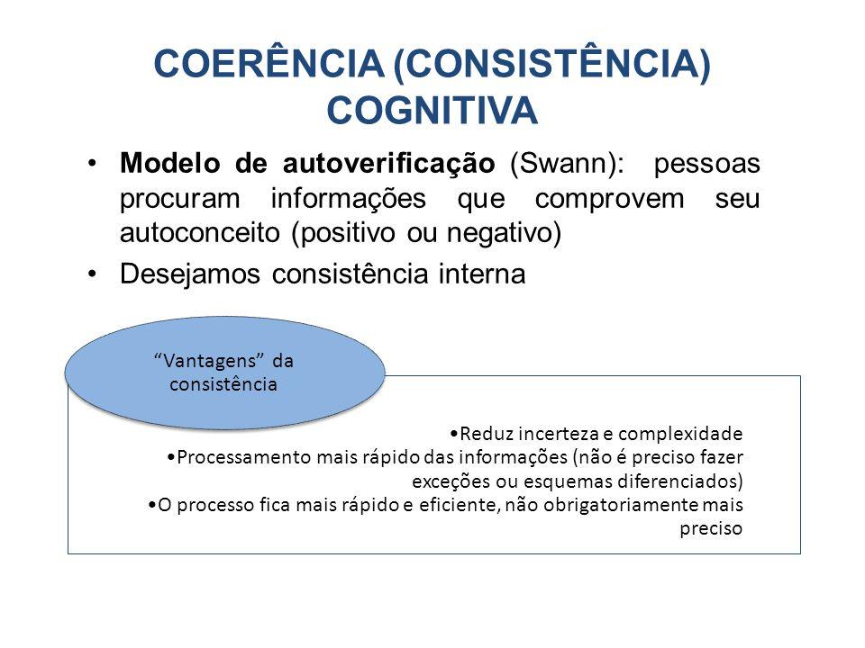 COERÊNCIA (CONSISTÊNCIA) COGNITIVA