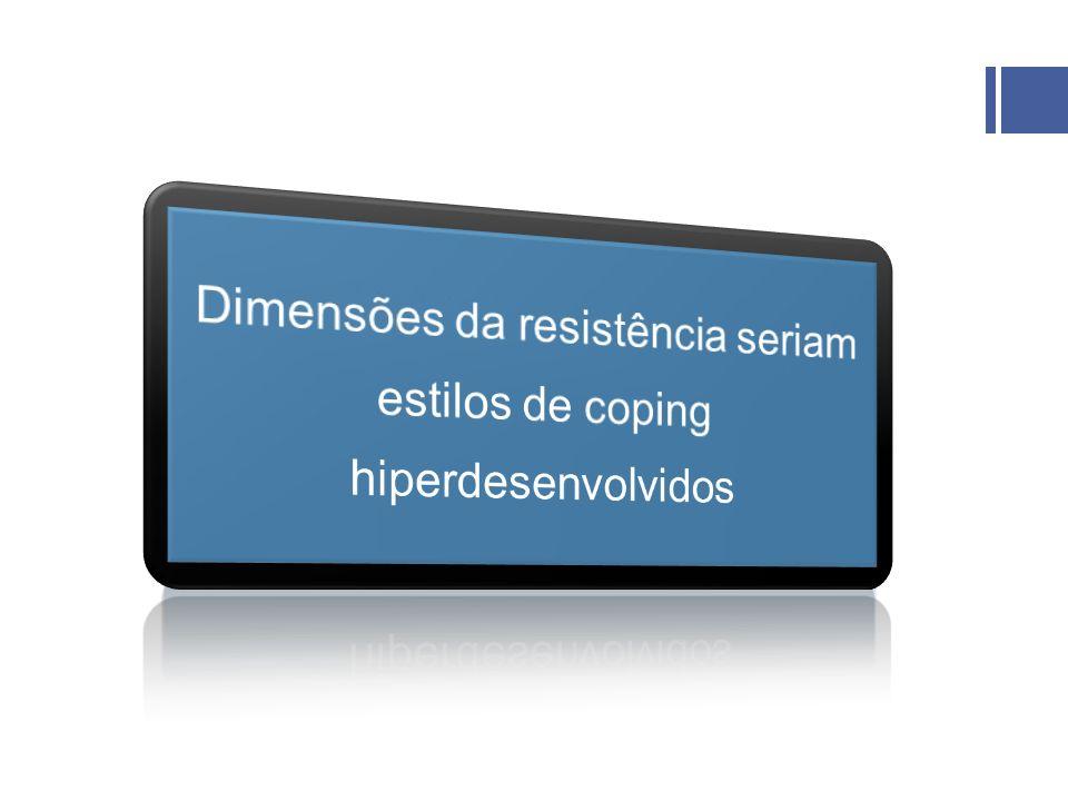 Dimensões da resistência seriam estilos de coping hiperdesenvolvidos