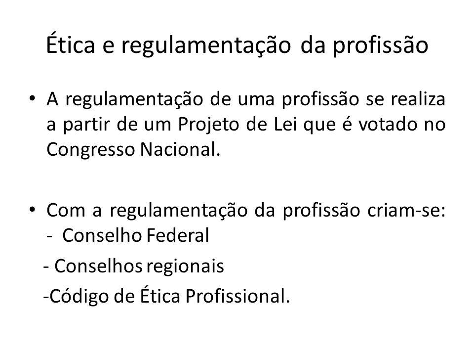 Ética e regulamentação da profissão
