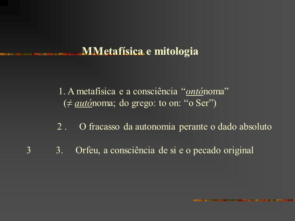 MMetafísica e mitologia
