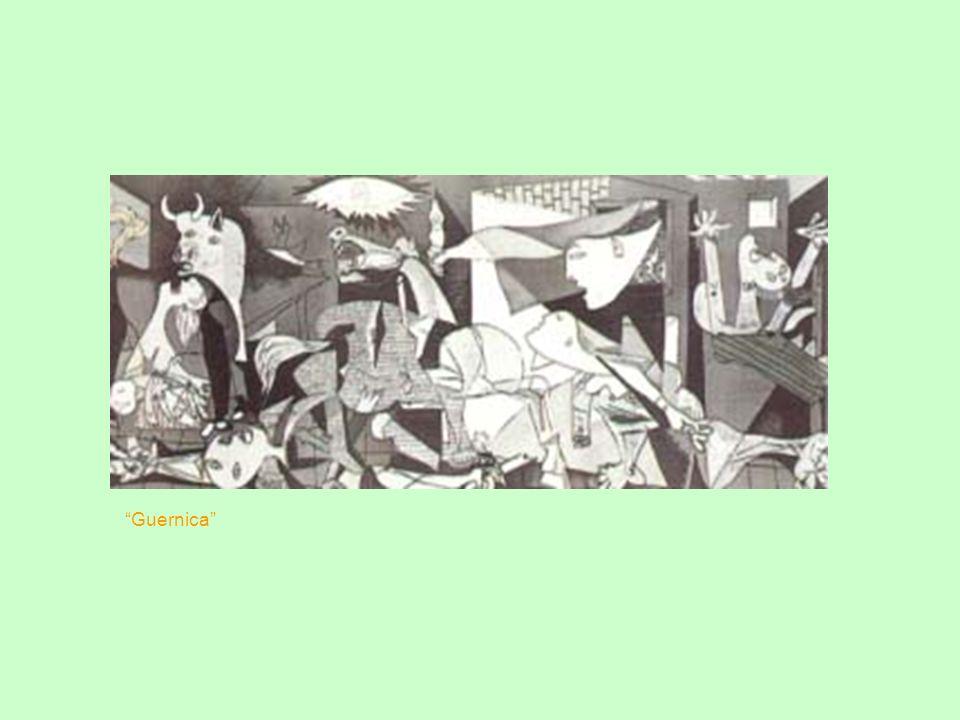 Um dos quadros mais conhecidos de Picasso é Guernica, em exposição no Museu Nacional Centro de Arte Rainha Sofia, em Madri. Retrata, da maneira muito peculiar do artista, a cidade basca de Guernica, após bombardeio pelos aviões da Luftwaffe de Adolf Hitler.
