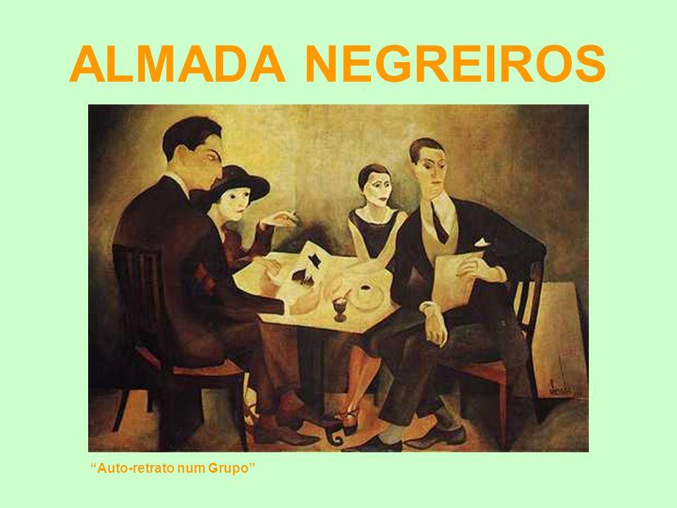 ALMADA NEGREIROS Auto-retrato num Grupo