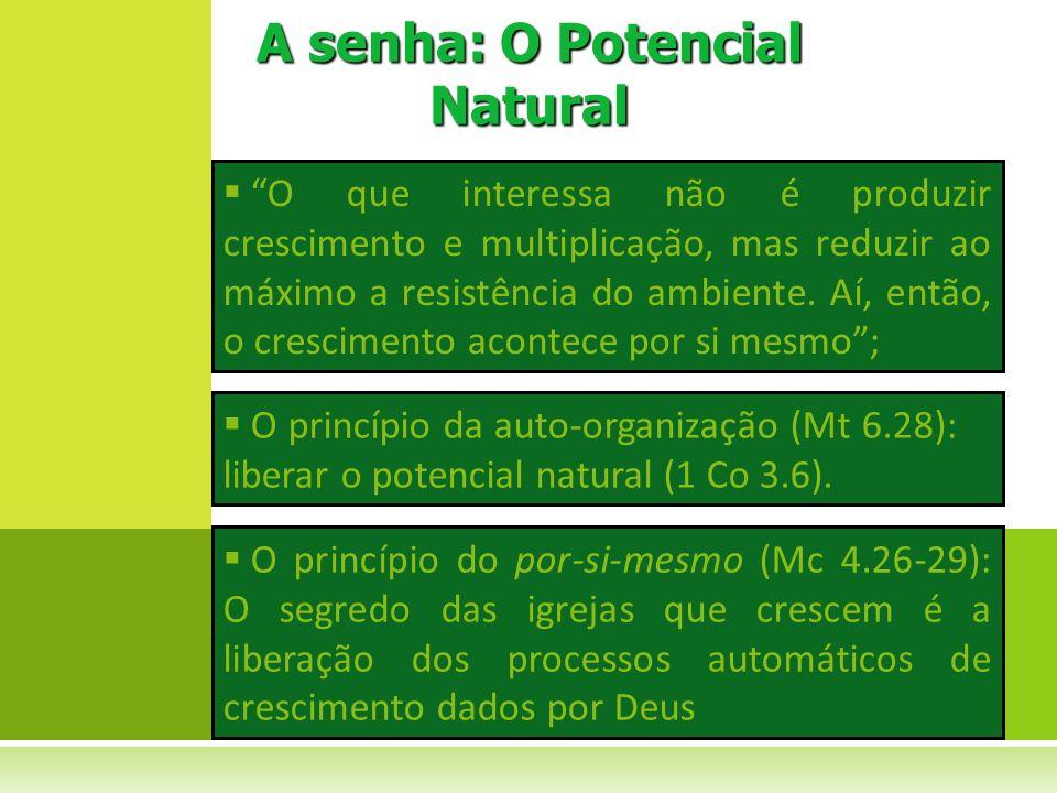 A senha: O Potencial Natural