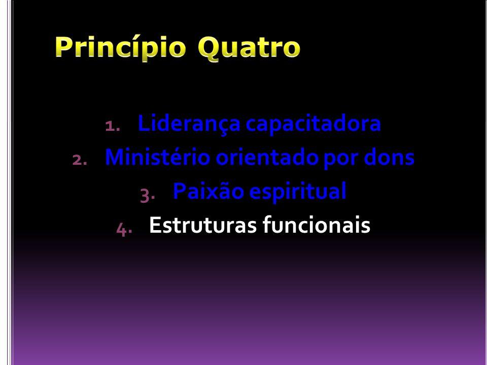 Princípio Quatro Liderança capacitadora Ministério orientado por dons
