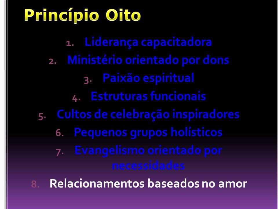 Princípio Oito Liderança capacitadora Ministério orientado por dons