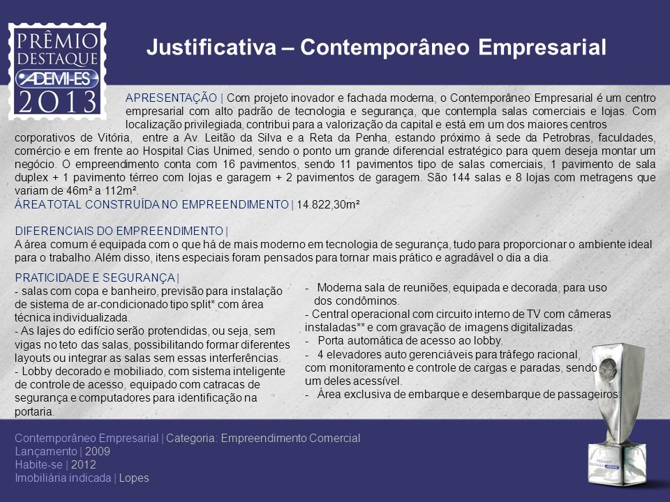 Justificativa – Contemporâneo Empresarial