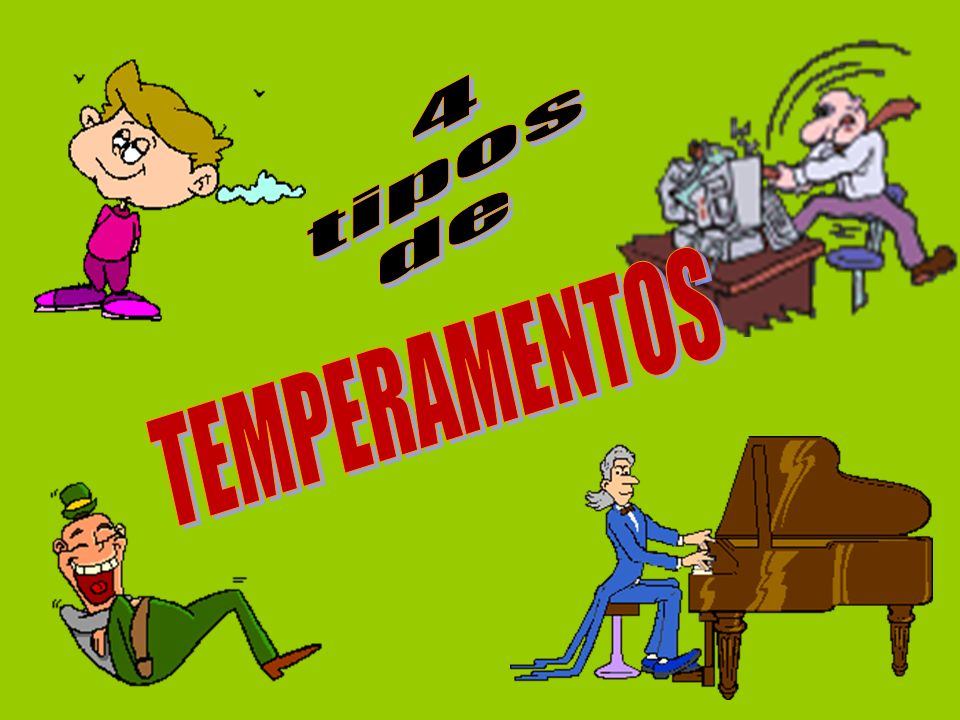 4 tipos de TEMPERAMENTOS