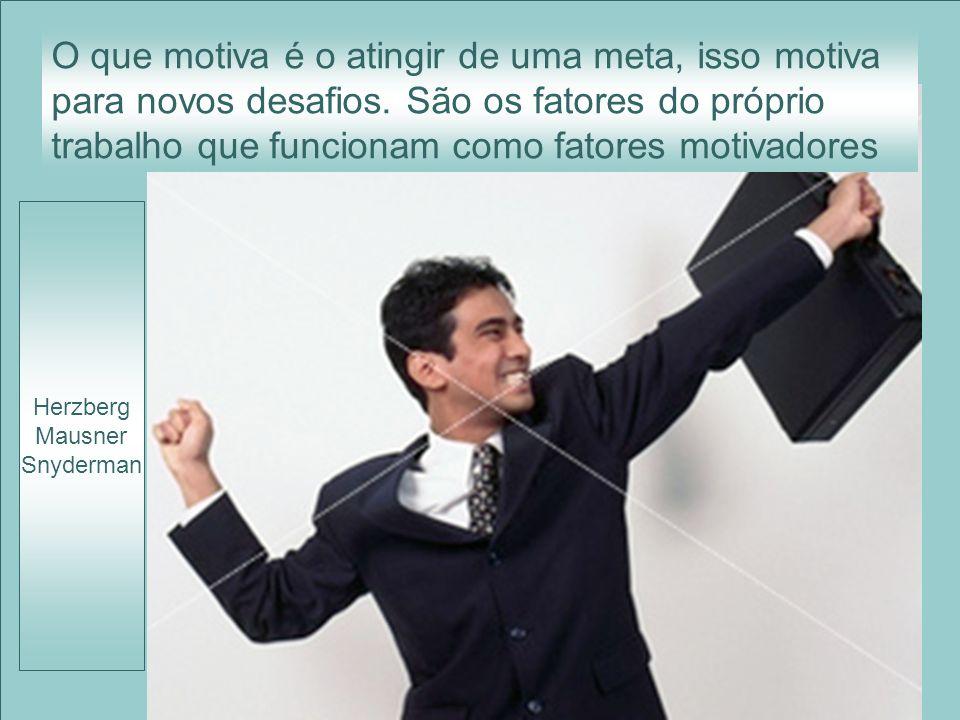 O que motiva é o atingir de uma meta, isso motiva para novos desafios