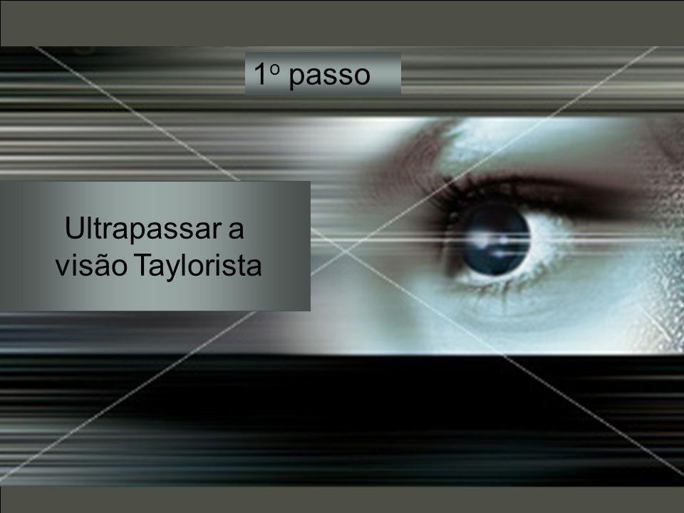 1o passo Ultrapassar a visão Taylorista