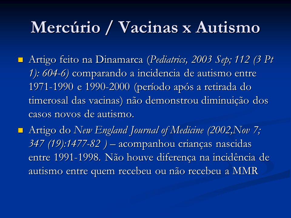 Mercúrio / Vacinas x Autismo