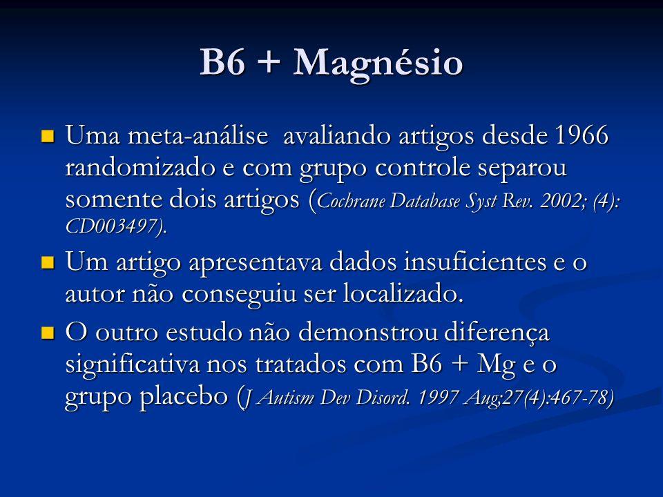 B6 + Magnésio