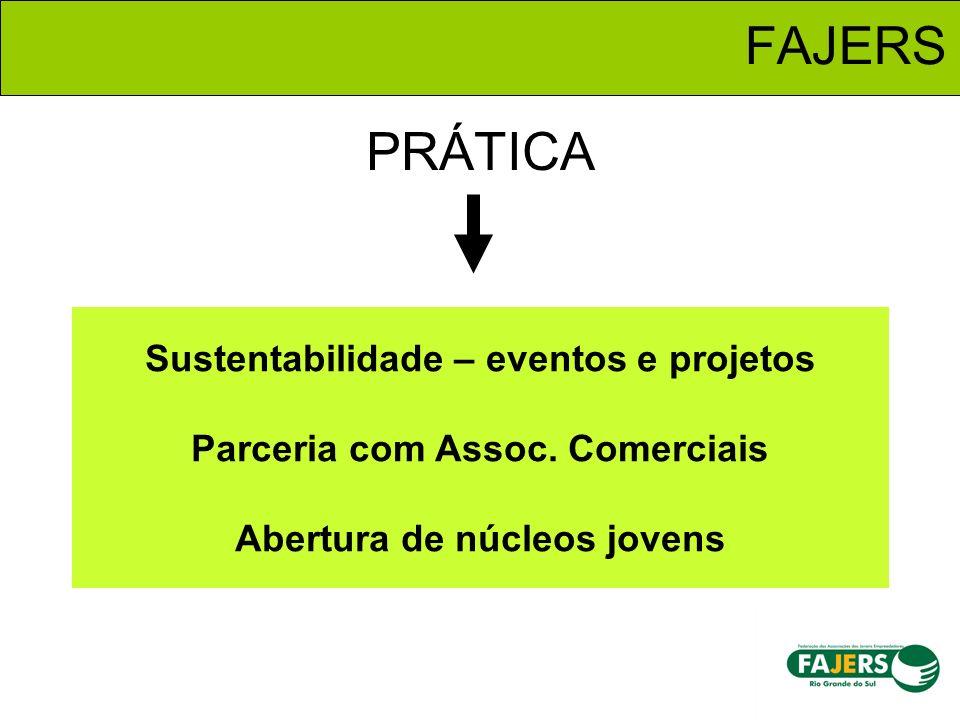 FAJERS PRÁTICA. Sustentabilidade – eventos e projetos Parceria com Assoc.