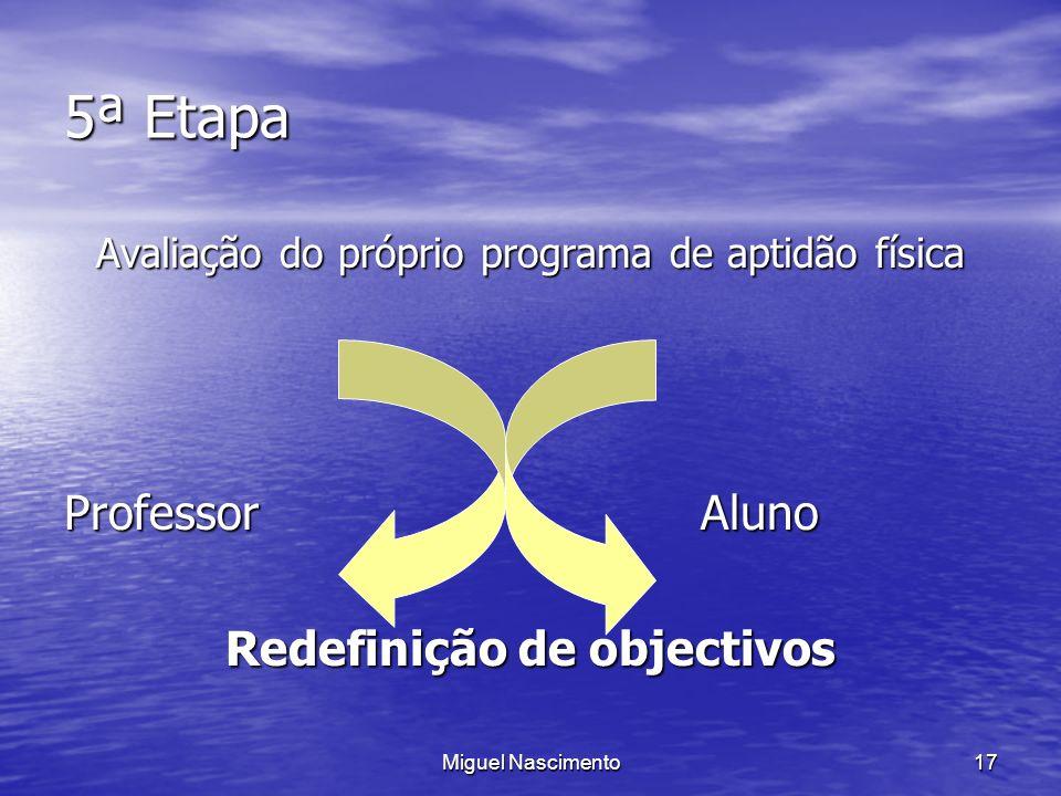 Redefinição de objectivos