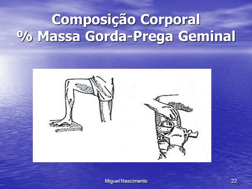 Composição Corporal % Massa Gorda-Prega Geminal