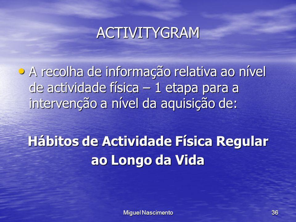 Hábitos de Actividade Física Regular
